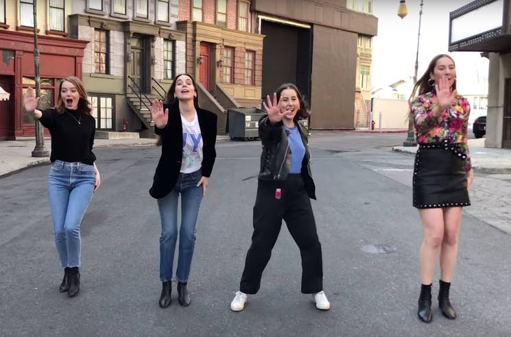 ​Watch Emma Stone and HAIM Recreate the Spice Girls' 'Stop' Video