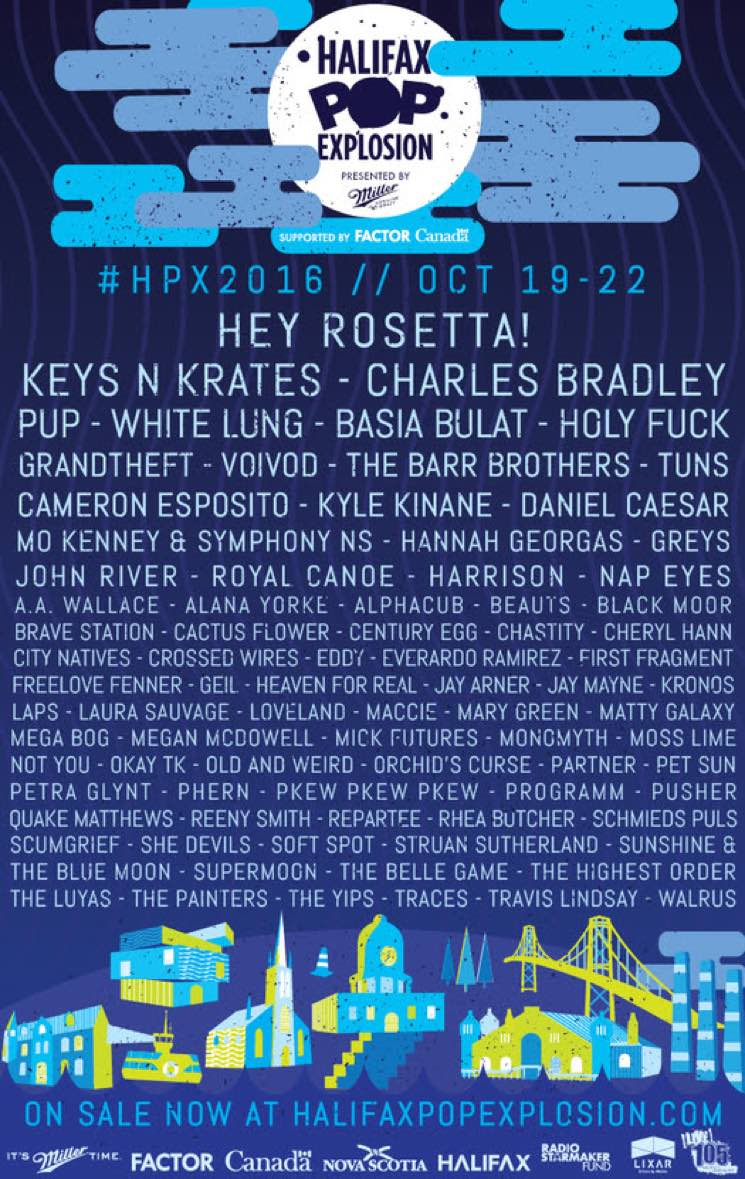 ​Halifax Pop Explosion Adds Daniel Caesar, the Luyas, She-Devils to 2016 Lineup