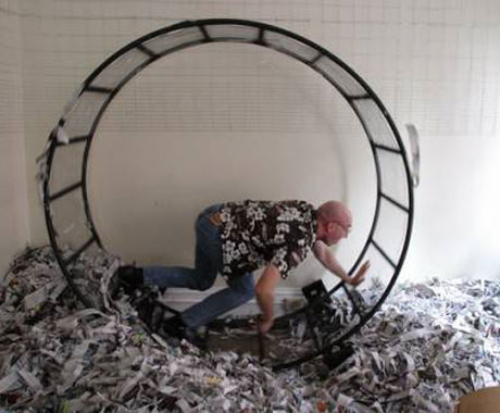 Rich Samis of the Men Creates Media Frenzy with Craigslist Ad for Human-Sized Hamster Wheel