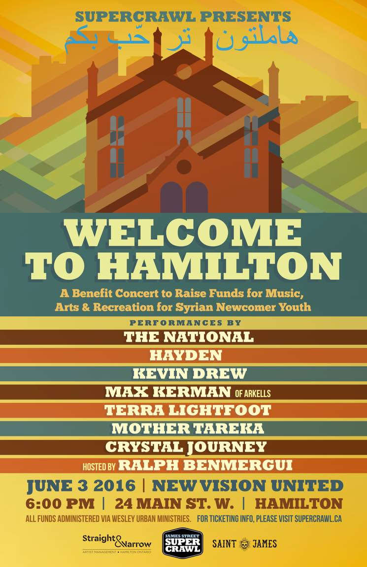 ​The National, Hayden and Kevin Drew Welcome Syrian Newcomers to Hamilton with Benefit Show