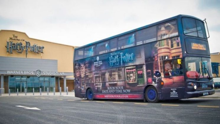 Harry Potter Studio Tour Buses Are Being Used to Transport COVID-19 Health Workers