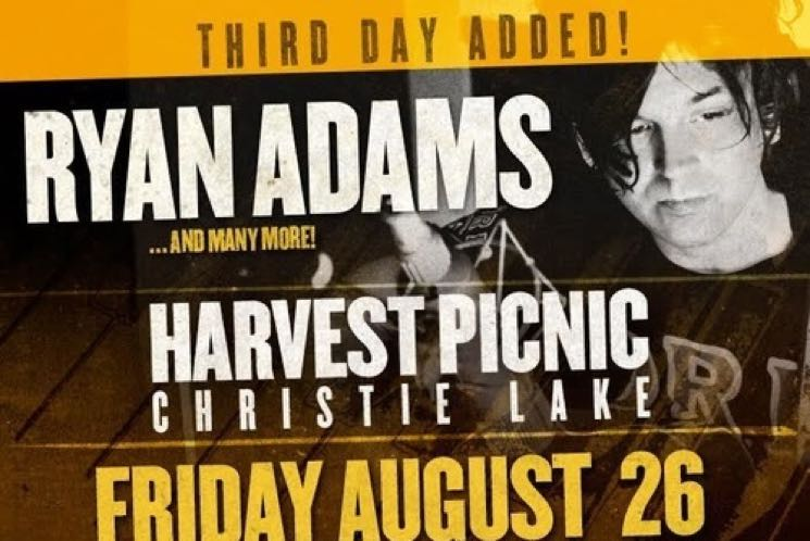 ​Harvest Picnic 2016 Gets Ryan Adams, Joel Plaskett Emergency, Great Lake Swimmers