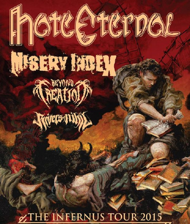Hate Eternal Take Misery Index, Beyond Creation on North American Tour