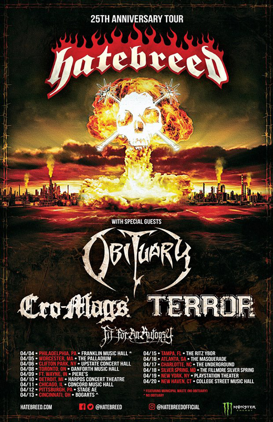 Hatebreed Plot 25th Anniversary Tour