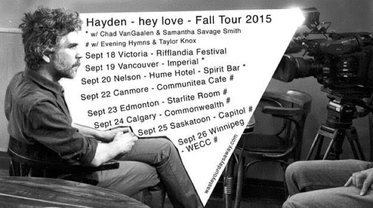 Hayden Teams Up with Chad VanGaalen, Evening Hymns for Canadian Tour