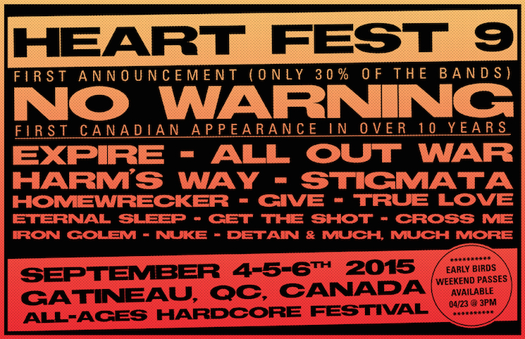 Heart Fest Confirms No Warning, Adds Expire, All Out War, Harm's Way