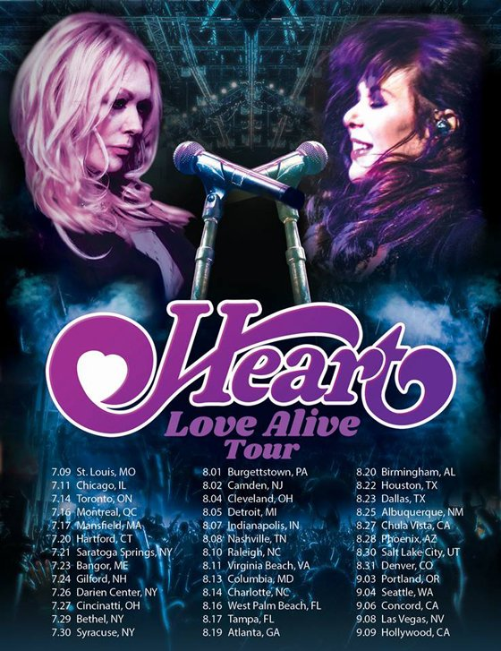 Heart Plot 'Love Alive Tour' with Sheryl Crow and Elle King
