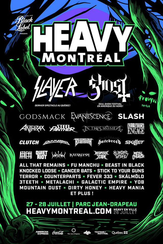 Slayer Leak Heavy Montreal's 2019 Lineup