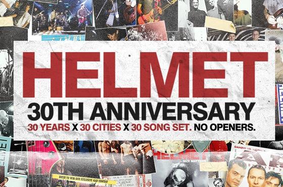 Helmet to Play Toronto on 30th Anniversary Tour