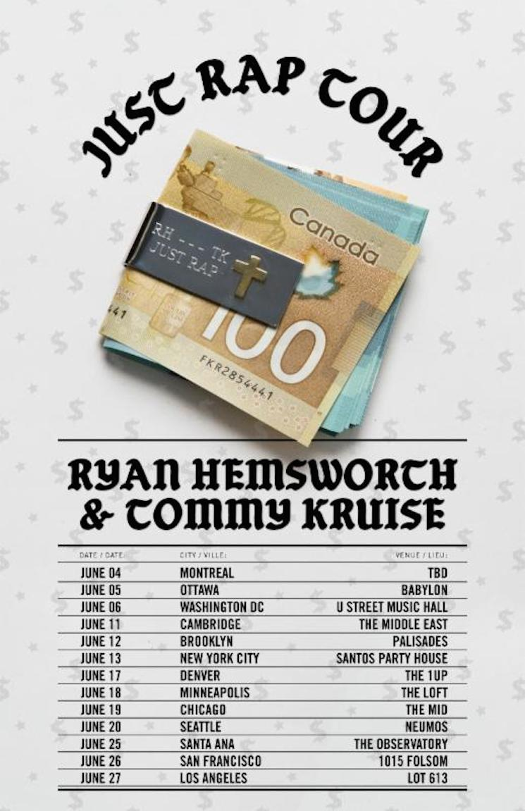 Ryan Hemsworth Teams Up with Tommy Kruise for 'Just Rap Tour,' Drops Mix
