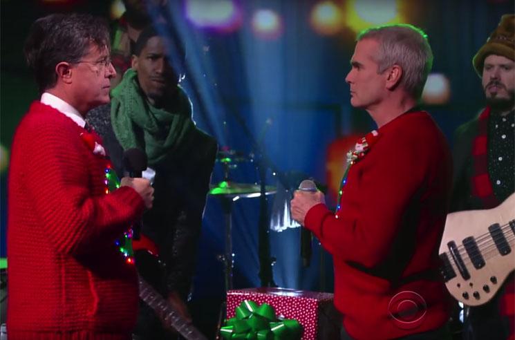 Henry Rollins Rocks 'Carol of the Bells' with Stephen Colbert
