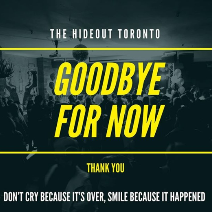 Toronto Venue the Hideout Is Closing Permanently