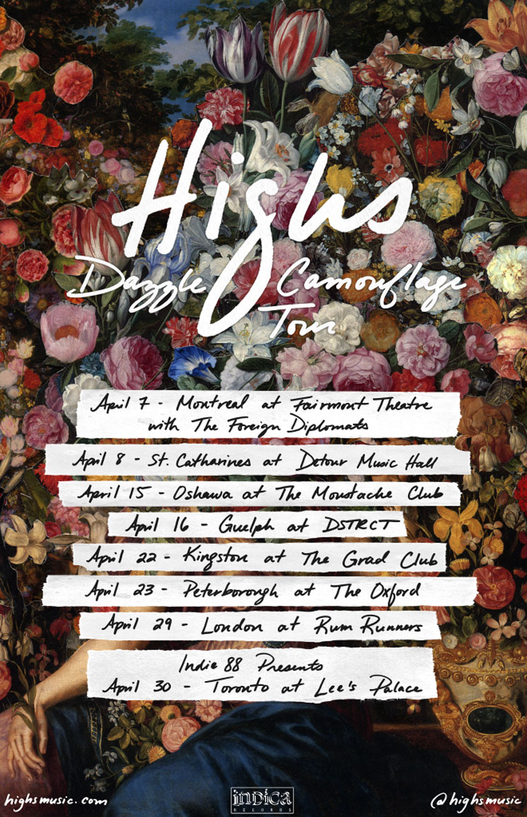 HIGHS Announce 'Dazzle Camouflage' Spring Tour