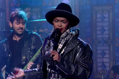 "Lauryn Hill ""Something"" (Beatles cover) (live on 'Letterman')"