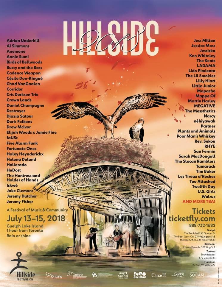 Hillside Festival Reveals 2018 Lineup