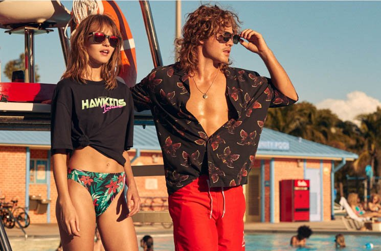 'Stranger Things' and H&M Unveil Hawkins Pool-Themed Clothing Line