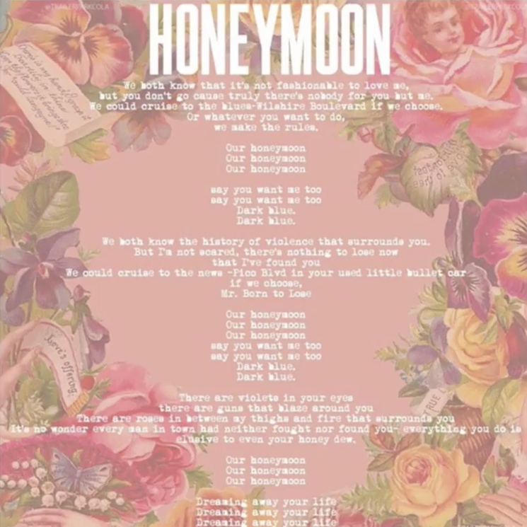 "Lana Del Rey ""Honeymoon"""