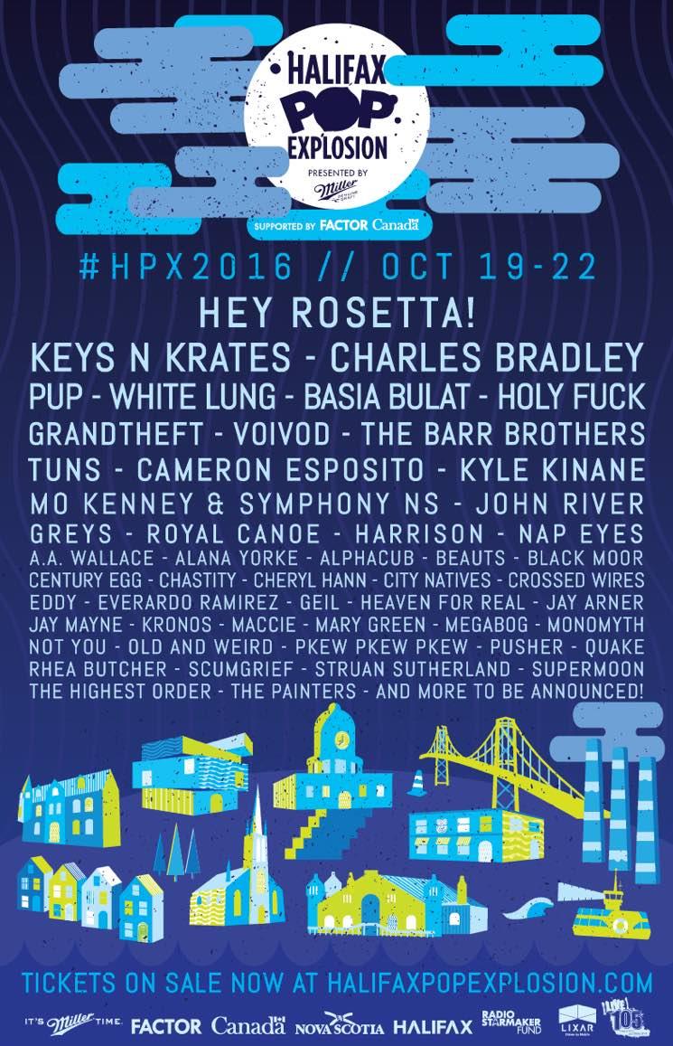 Halifax Pop Explosion Expands 2016 Lineup with Keys N Krates, Charles Bradley, Basia Bulat