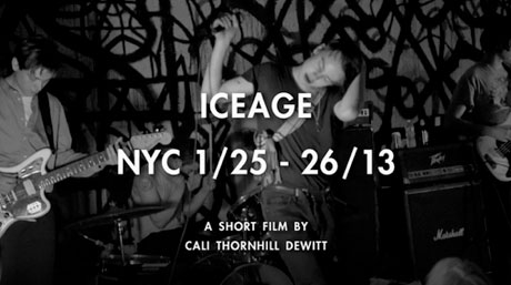 Iceage 'NYC 1/25-26/13' (mini-doc)