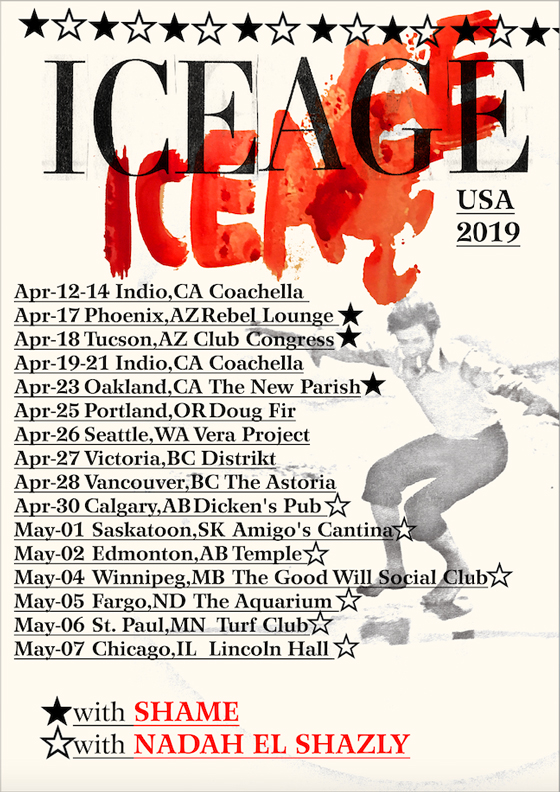Iceage Map Out North American Spring Tour