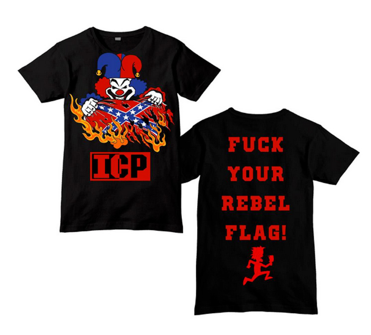 Insane Clown Posse Burn the Confederate Flag with Their New T-Shirt