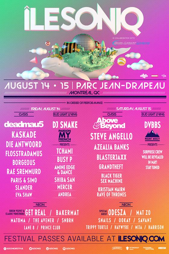 Montreal's îleSoniq Festival Reveals 2015 Lineup