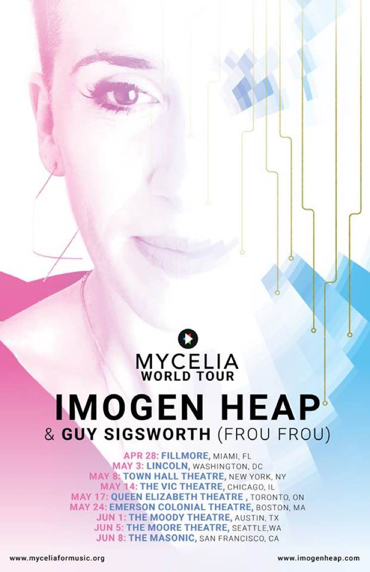 "Imogen Heap Announces Solo and Frou Frou Shows on ""Mycelia World Tour"""