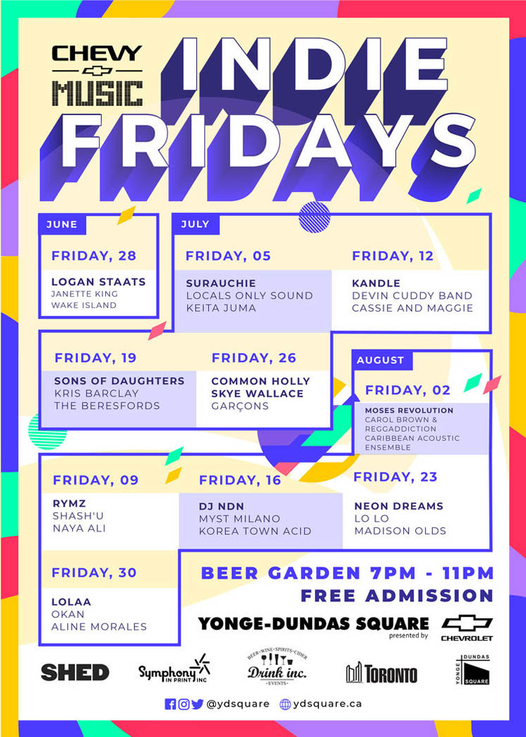 Indie Fridays Brings DJ NDN, Neon Dreams, Common Holly to Yonge-Dundas Square