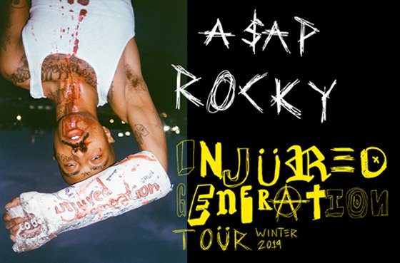 "A$AP Rocky Maps Out ""Injured Generation Tour"""