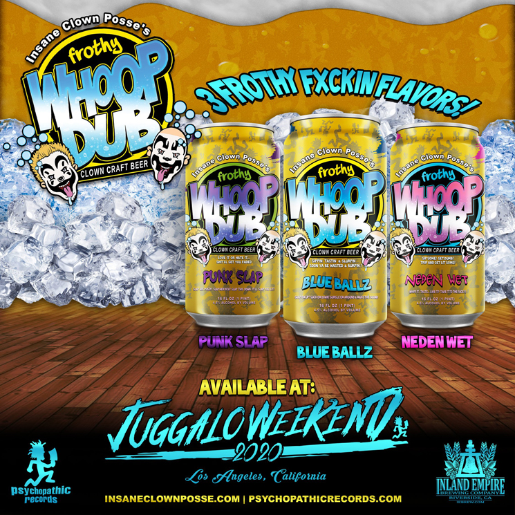 Behold Insane Clown Posse's 'Frothy Whoop Dub' Clown Craft Beer