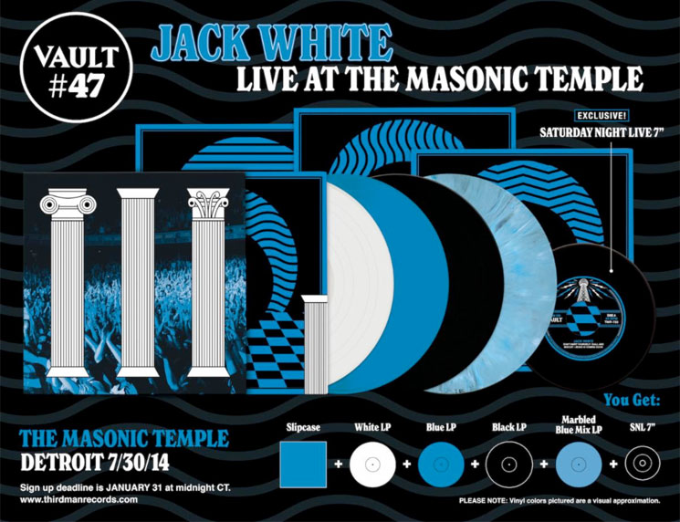 Jack White Announces New 4-LP Live Album and 'SNL' 7-inch
