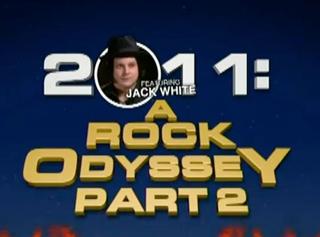 Jack White 'Stephen Colbert Presents, 2011: A Rock Odyssey with Jack White' (pt. 2) (video)