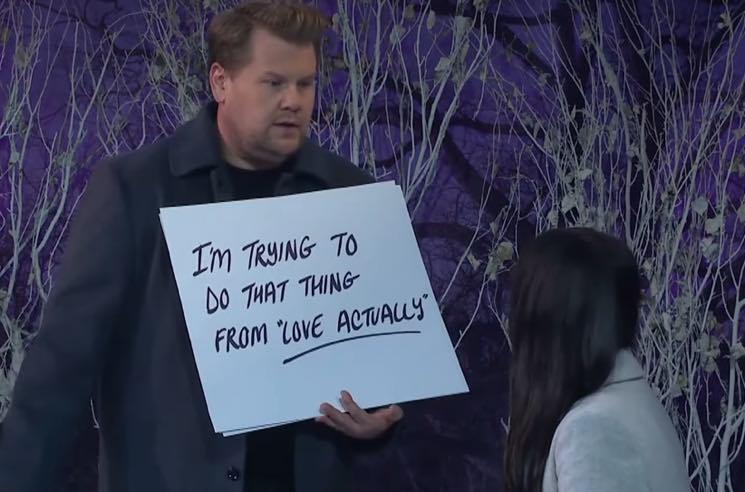 Watch Kacey Musgraves and James Corden Perform Songs in a Live Christmas Rom-Com