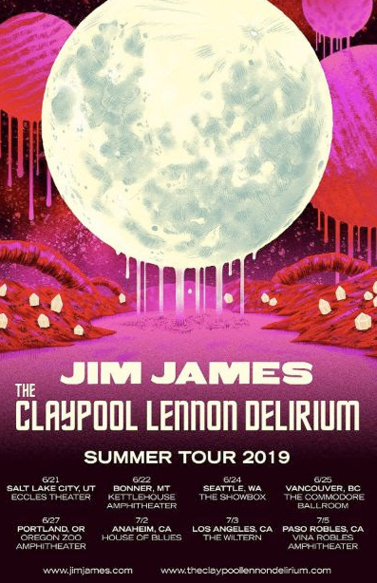 Jim James & the Claypool Lennon Delirium Unveil Co-Headlining Tour