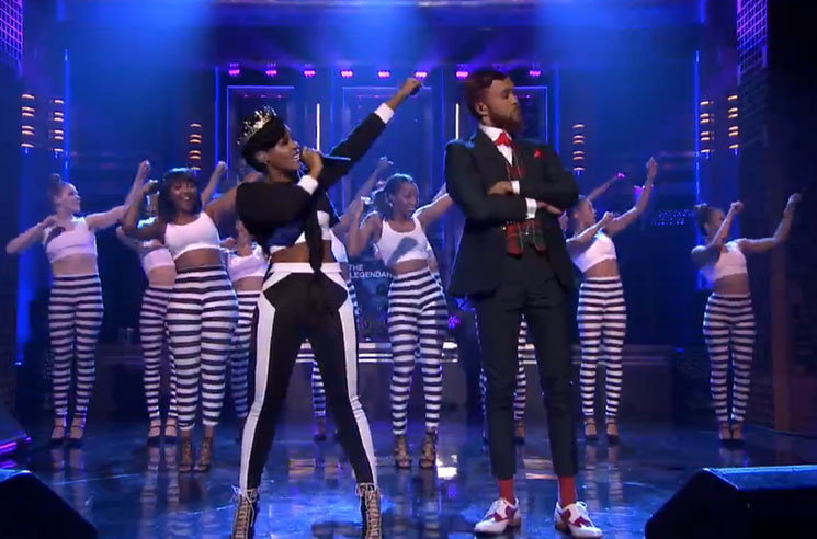 "Janelle Monáe ""Yoga"" (ft. Jidenna and the Roots) (live on 'Fallon')"