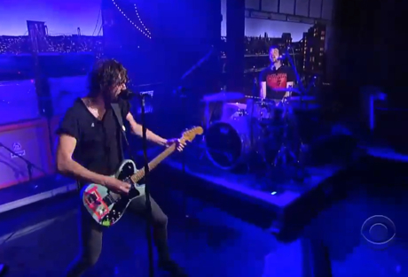 Japandroids 'Adrenaline Nightshift' (live on 'Letterman')
