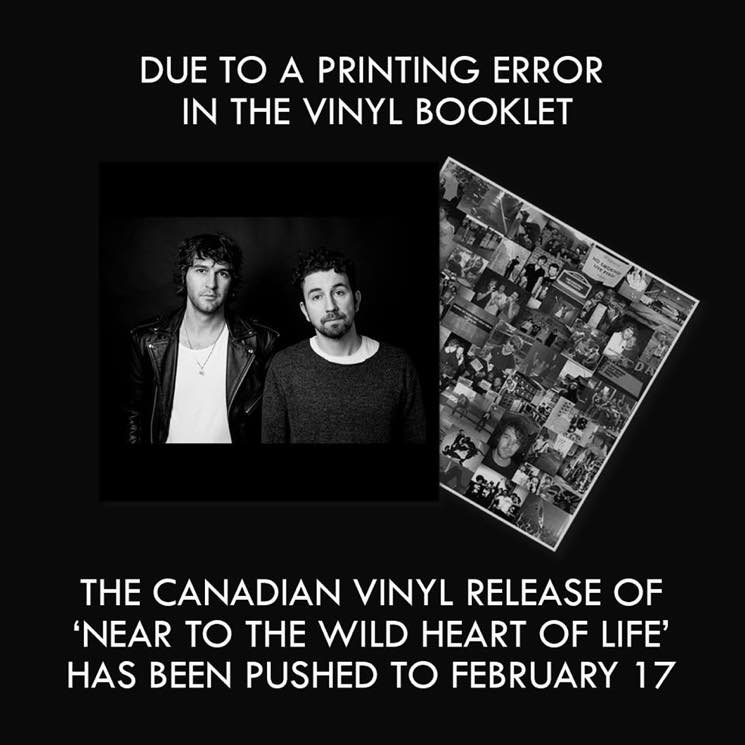 Vinyl Release of Japandroids' New Album Delayed in Canada over Printing Error