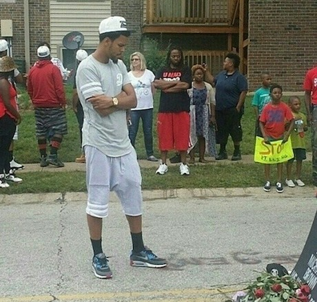 J. Cole Visits Protestors in Ferguson
