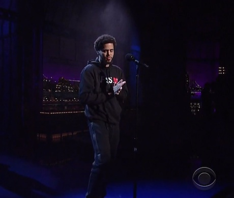 "J. Cole ""Be Free"" (live on 'Letterman')"