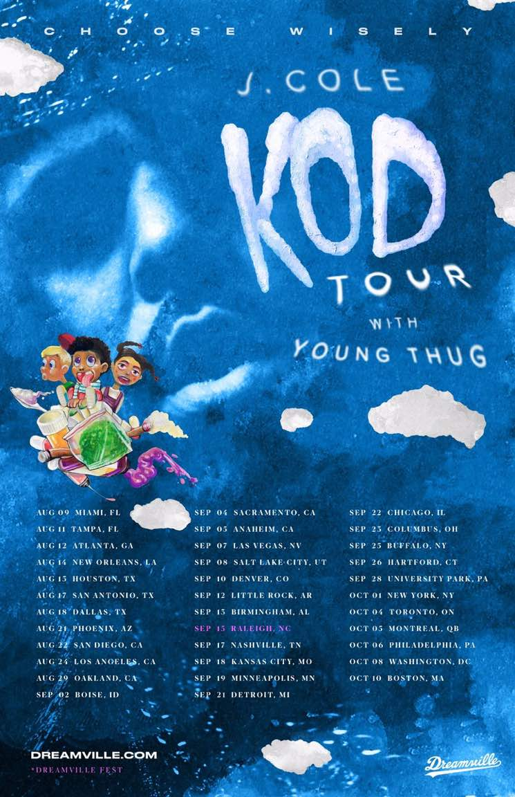 "​J. Cole Teams Up with Young Thug for ""KOD Tour"""