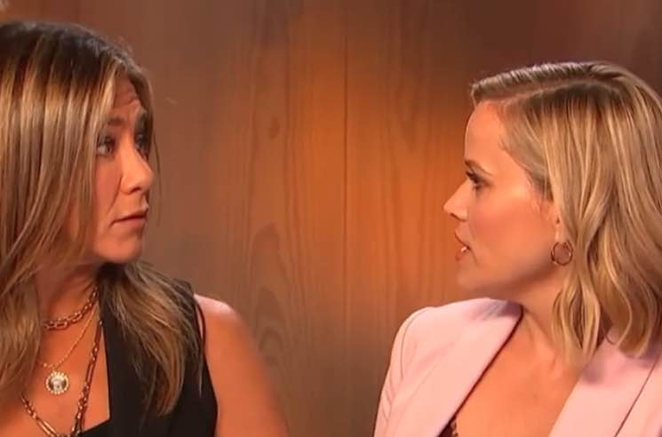 ​Watch Jennifer Aniston and Reese Witherspoon Reenact 'Friends' Scene as the Green Sisters