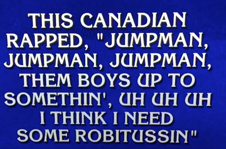 "​Hear Alex Trebek Rap Drake's ""Jumpman"" on 'Jeopardy'"