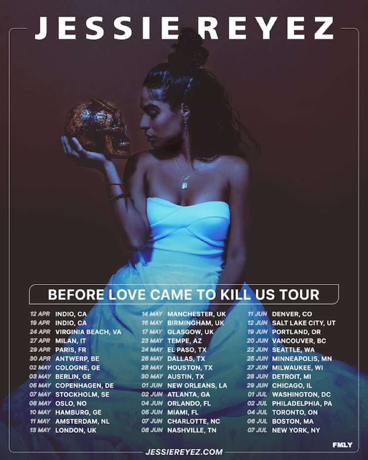 "​Jessie Reyez Maps Out ""Before Love Came to Kill Us Tour"""