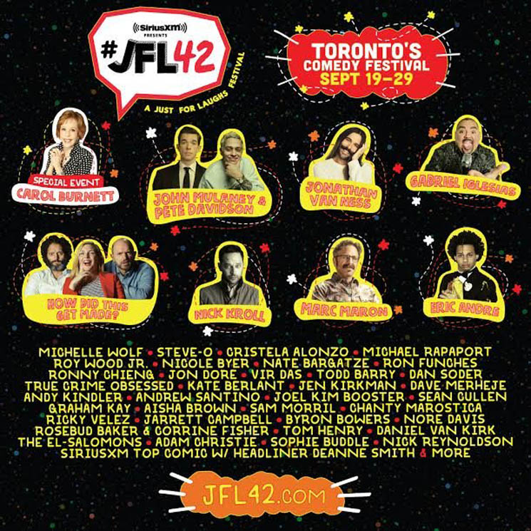 ​JFL42 Announces 2019 Lineup with John Mulaney & Pete Davidson, Jonathan Van Ness, Carol Burnett