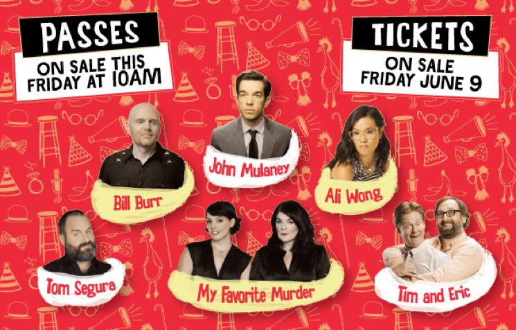 JFL42 to Bring Bill Burr, John Mulaney, Ali Wong, Tim and Eric to Toronto