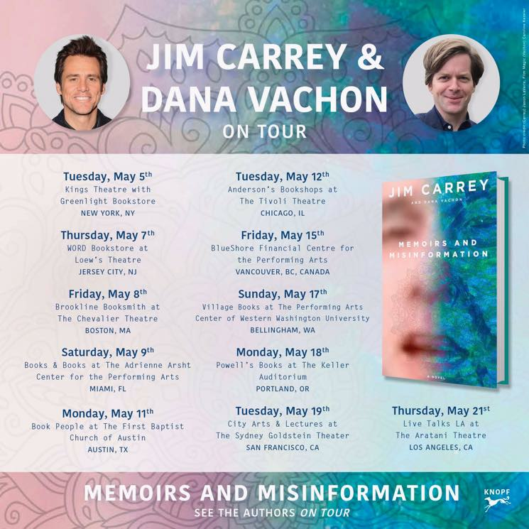 Jim Carrey Is Bringing His Book Tour to Vancouver