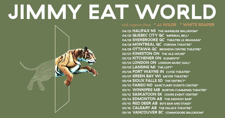 Jimmy Eat World Announce Canada-Heavy North American Tour