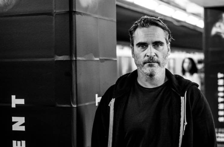 ​Joaquin Phoenix Visited a Vegan Photo Campaign at a Toronto Subway Station