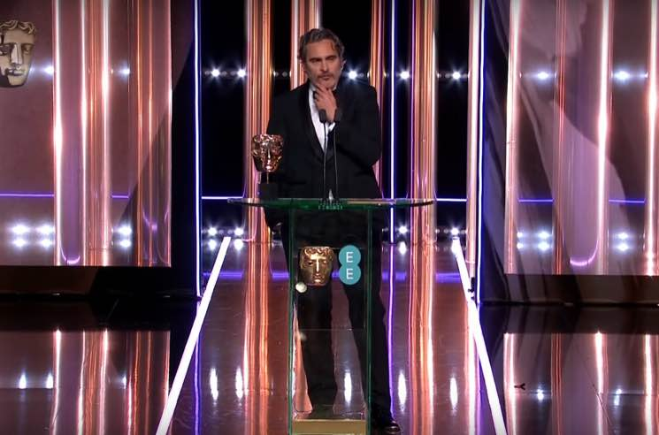"""Joaquin Phoenix Calls Out """"Systemic Racism"""" During BAFTA Awards Acceptance Speech"""