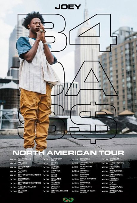 "Joey Bada$$ Announces ""B4.DA.$$"" North American Tour, Hits Toronto and Vancouver"